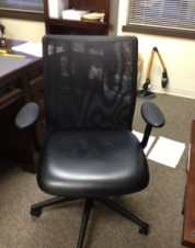 Steelcase Mesh-Back Leather Conference Chair