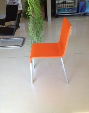 Orange Vitra Guest Chair