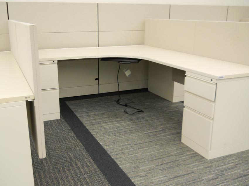 Herman Miller L Shape Ethospace Cubicle Office Furniture Ethosource