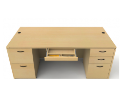 Amber Series Double Ped Desk by Cherryman