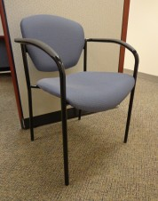 Knoll Guest Chairs with Blue Fabric