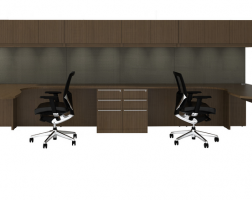 Cherryman L-Shaped Desk with Arc End