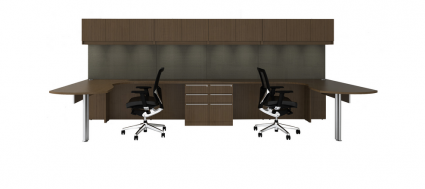 Cherryman L-Shaped Desk with Arc End | Office Furniture
