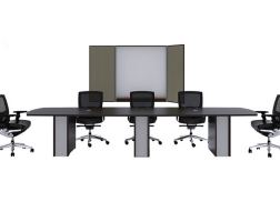 Cherryman Meeting Table with Arc Edges