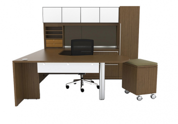 Cherryman U Shaped Desk With Arc End Office Furniture Ethosource