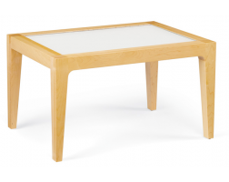 Community F12028PG Finn Nu Collection Glass-Top Occasional Table