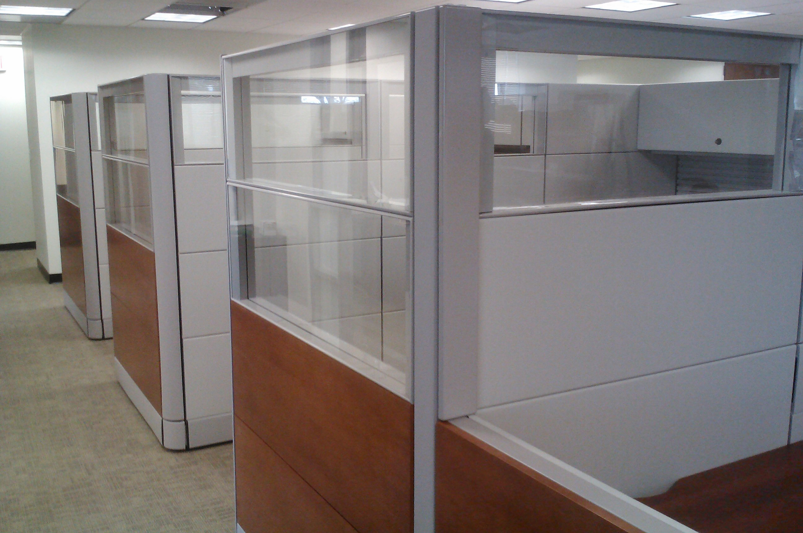Glazed Office Cubicles : Incorporating glass into your cubicle design ethosource
