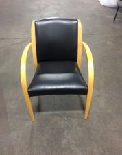 David Edward Guest Chair Black Leather