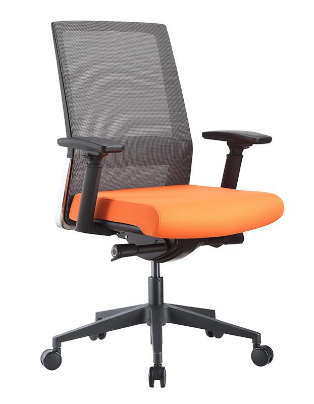 Task Grey mesh Orange Fabric (1)