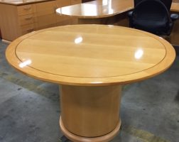 Light Cherry Meeting Table