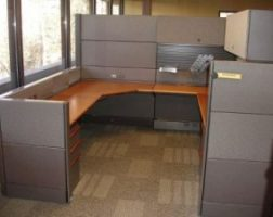Herman Miller Ethospace Wood Veneer Cubicle