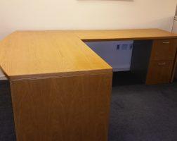 Halcon Bow-Front L-Shaped Desk