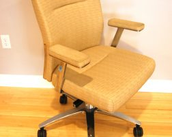 Tan Conference Chair with Chrome Base
