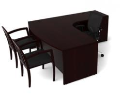 Jade L-Shape Desk by Cherryman