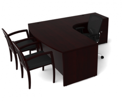 Jade L Shape Desk By Cherryman