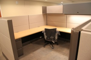 Used herman miller ethospace cubicle 8x8 and 6x8 for 8x8 office design