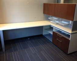 Haworth Freestanding L-Shaped Cubicle Desk