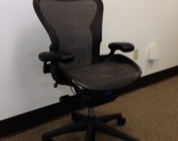 Herman Miller Aeron Chair - Graphite Frame & Classic Lead Pellicle (Mesh)