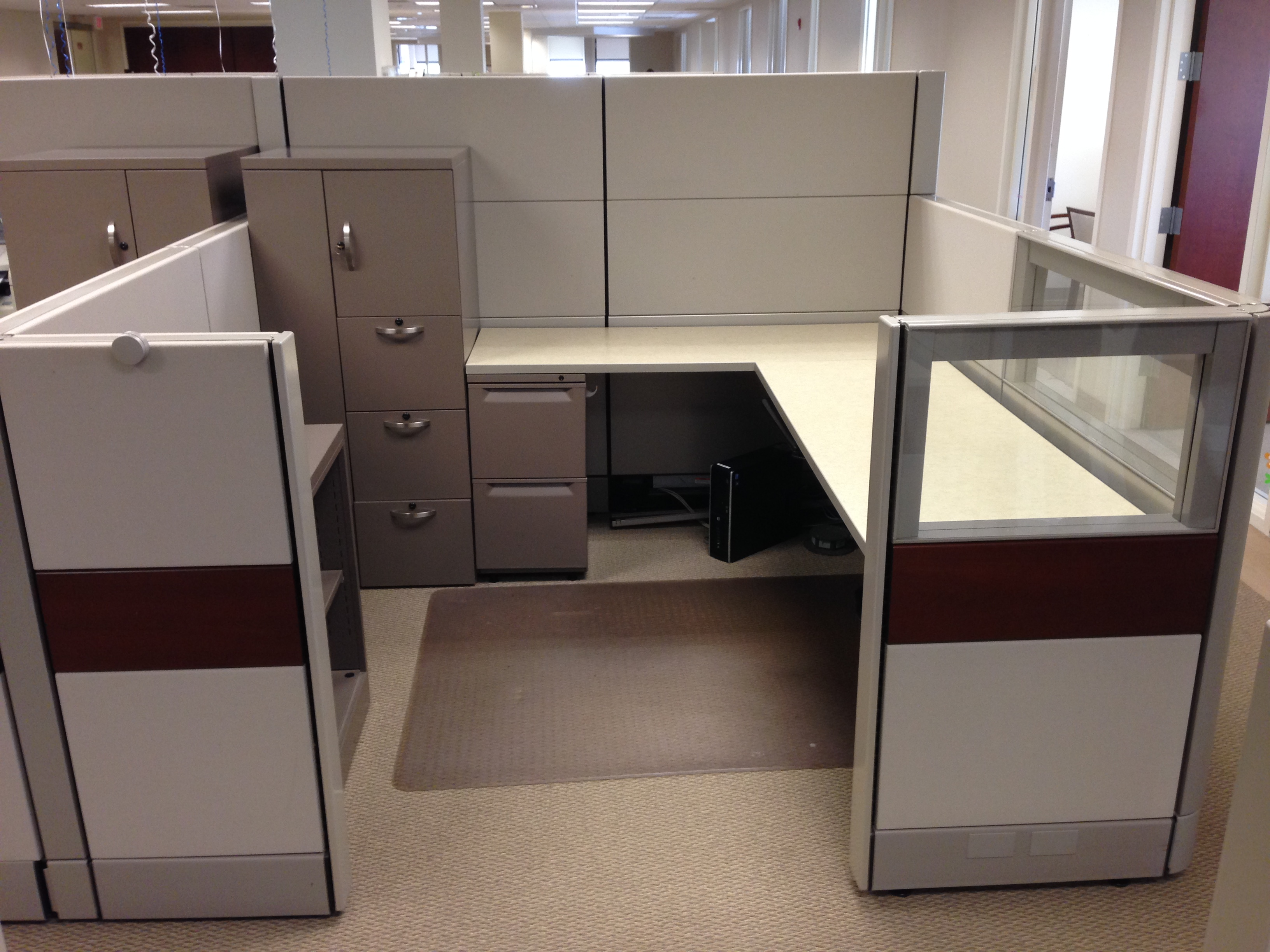7 X 7 Multi Height Workstations Office Furniture