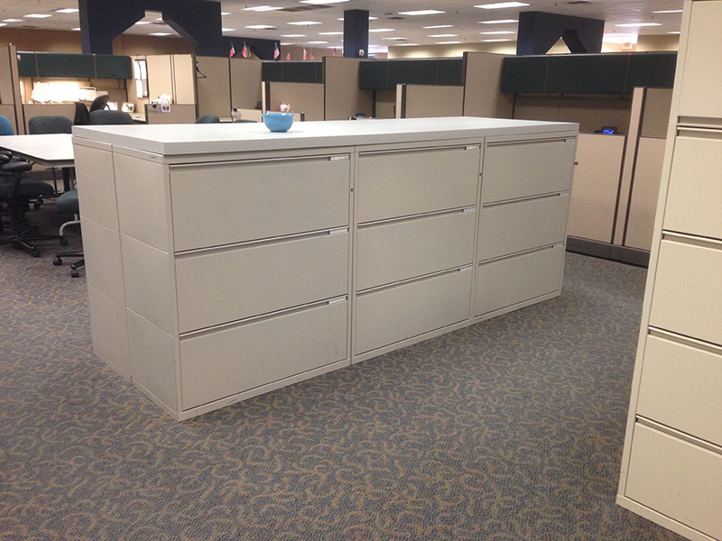 Used Herman Miller 3 High Meridian Lateral Files Office