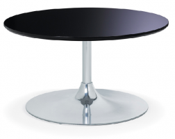 Community Cafe Table with Trumpet Base