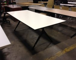 "84"" White Laminate Training Table"