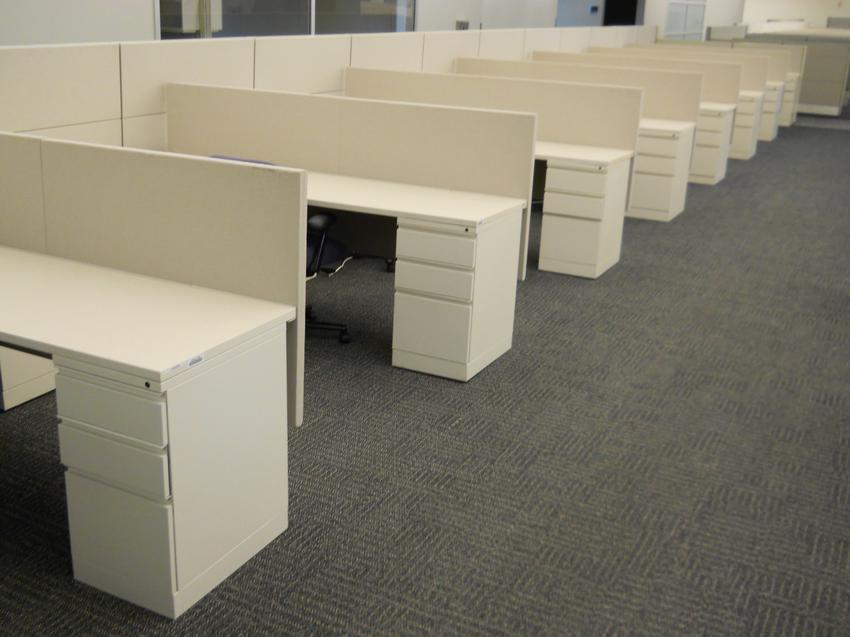 Used Herman Miller L Shape Ethospace Cubicle Office