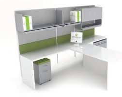 Private Office Cubicle with T-Top