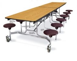 Cafeteria Stool Table