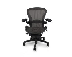 Herman-Miller-Used-Aeron-Chair-–-Graphite-Frame-&-Classic-Carbon-Pellicle-(Mesh)-front