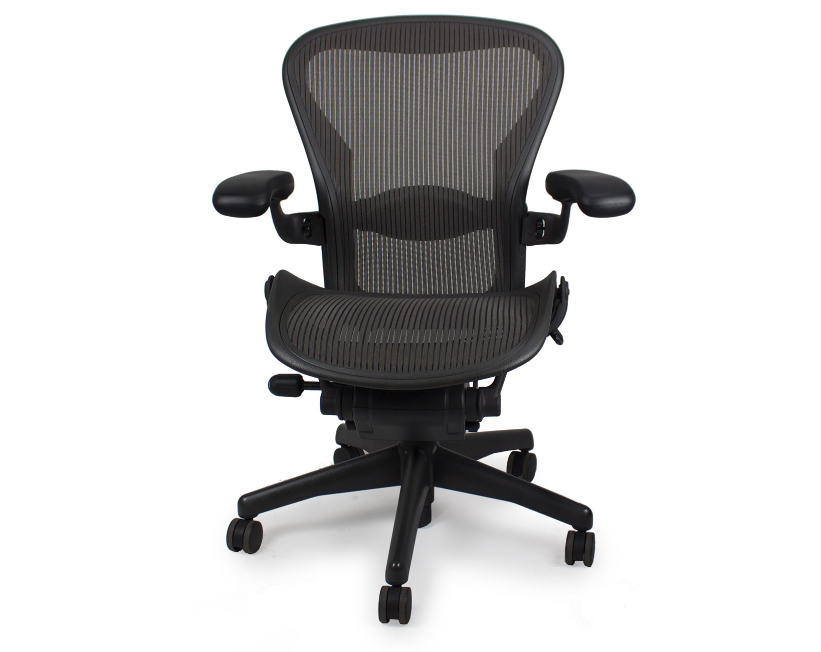 used herman miller aeron chair graphite frame classic carbon pellicle mesh office furniture ethosource - Herman Miller Aeron Chair