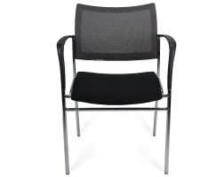 Black-Mesh-Sling-Chair-front