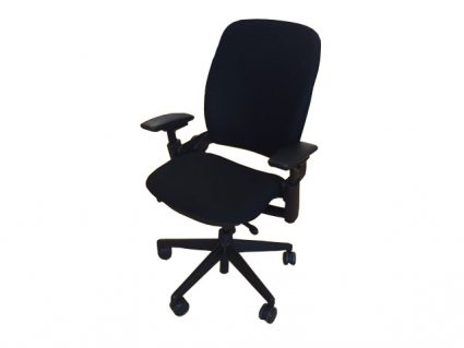 Leap Chair By Steelcase refurbished steelcase leap chair version 2 (black frame) | office