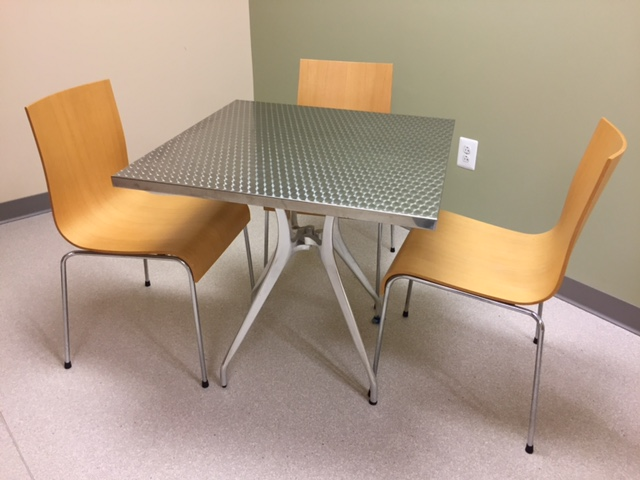 Square Office Furniture ~ Used quot square cafe table office furniture ethosource