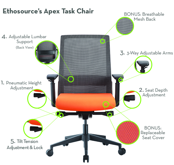 Apex Chair Features